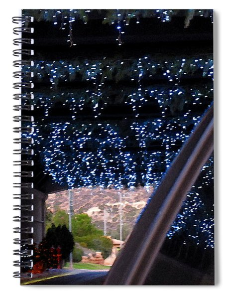 Christmas Road Decoration Spiral Notebook