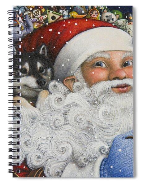 Christmas Stowaway Spiral Notebook