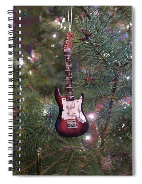 Christmas Stratocaster Spiral Notebook
