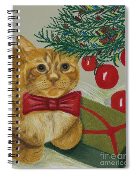 Christmas With Rufus Spiral Notebook