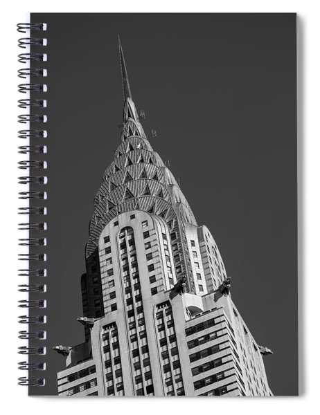 Chrysler Building Bw Spiral Notebook