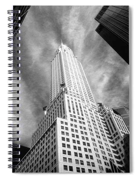 Chrysler Building Infrared Spiral Notebook