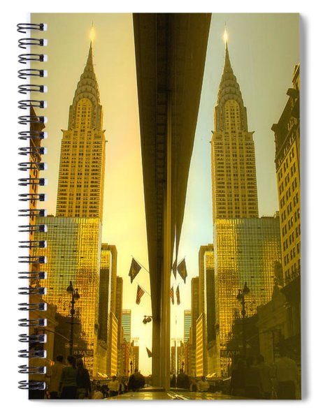 Chrysler Reflection On 42nd Street Spiral Notebook