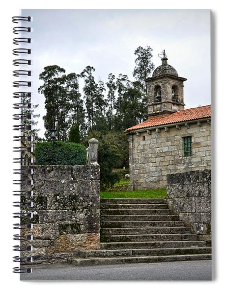 Church And Cemetery In A Small Village In Galicia Spiral Notebook