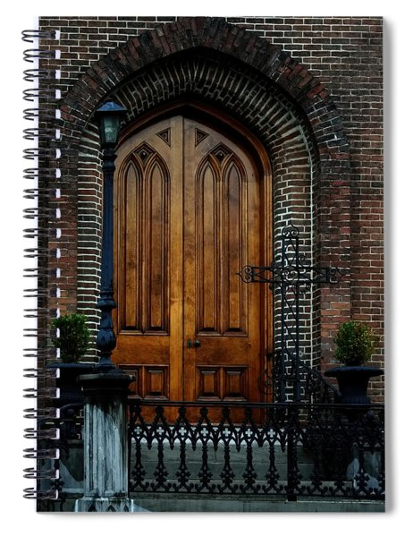 Church Arch And Wooden Door Architecture Spiral Notebook