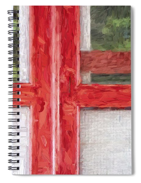 Church Camp House Detail Painterly Series 11 Spiral Notebook