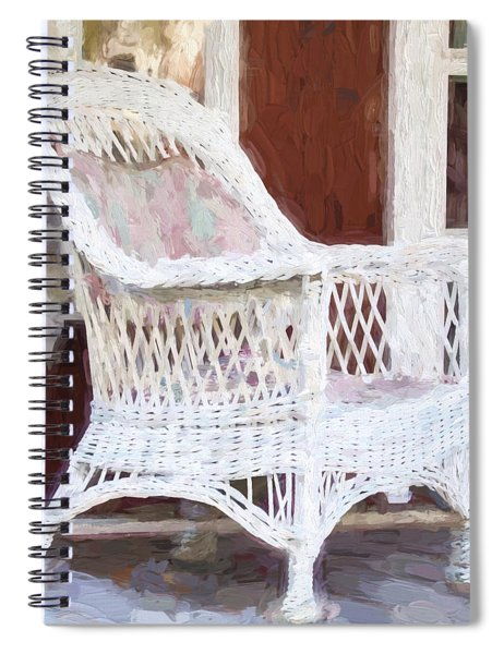 Church Camp House Detail Painterly Series 15 Spiral Notebook