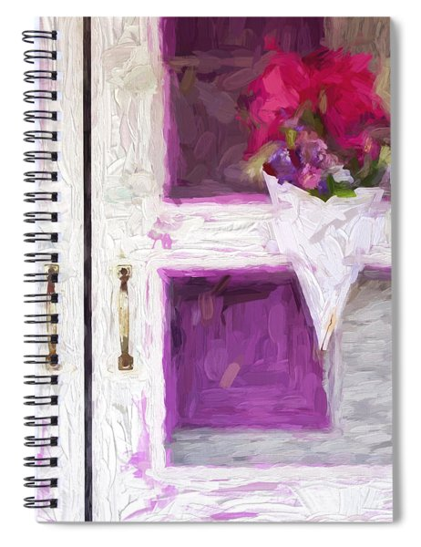 Church Camp House Detail Painterly Series 16 Spiral Notebook