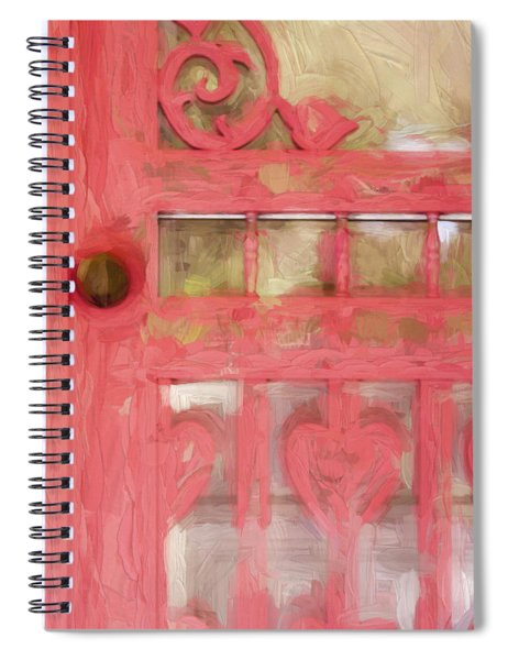 Church Camp House Detail Painterly Series 18 Spiral Notebook