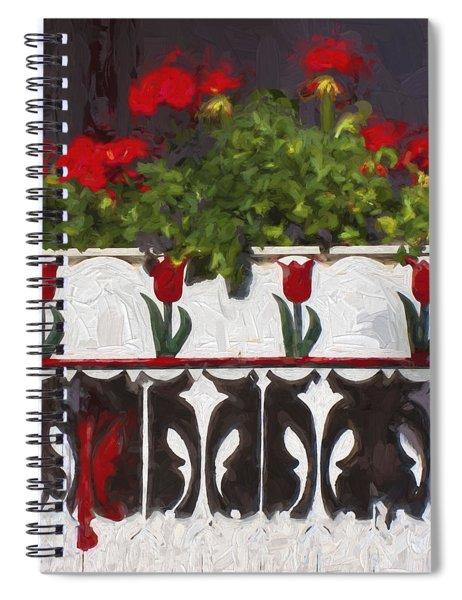 Church Camp House Detail Painterly Series 6 Spiral Notebook