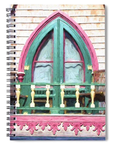 Church Camp House Detail Painterly Series 8 Spiral Notebook