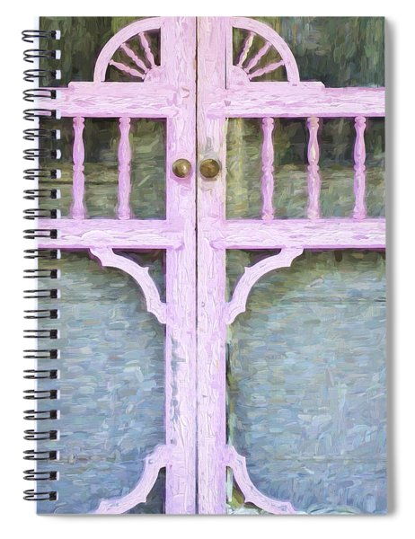 Church Camp House Detail Painterly Series 9 Spiral Notebook