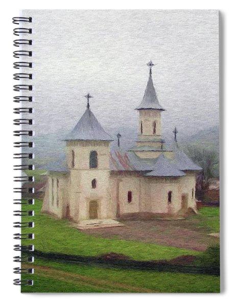 Church In The Mist Spiral Notebook