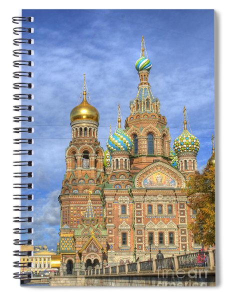 Church Of The Saviour On Spilled Blood. St. Petersburg. Russia Spiral Notebook