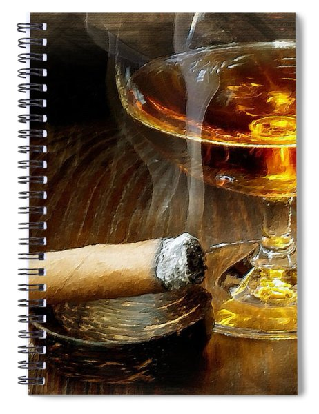 Cigar And Cordial Painting Spiral Notebook