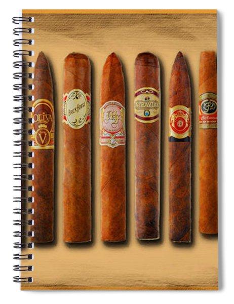 Cigar Sampler Painting Spiral Notebook