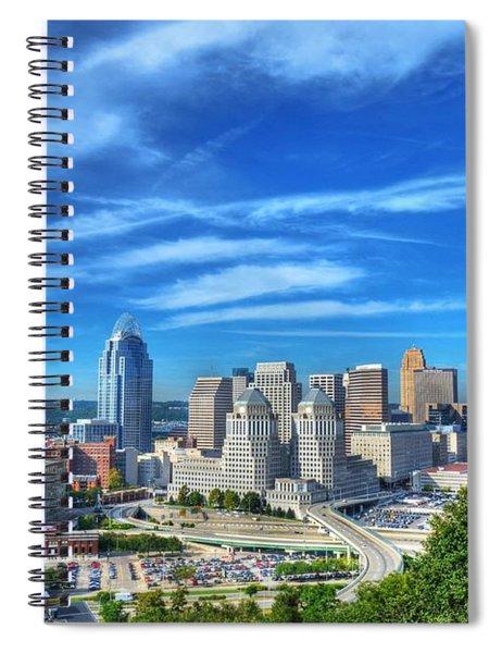 Spiral Notebook featuring the photograph Cincinnati Skyline 2 by Mel Steinhauer