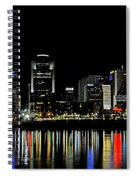 Spiral Notebook featuring the photograph Cincinnati Skyline Dreams 3 by Mel Steinhauer