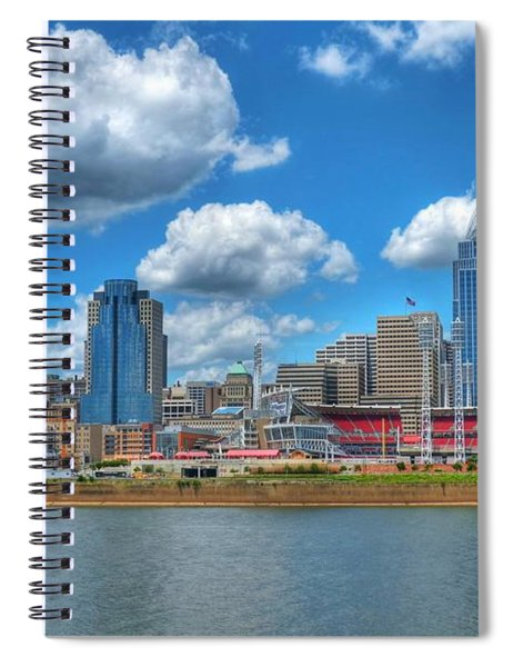Spiral Notebook featuring the photograph Cincinnati Skyline by Mel Steinhauer