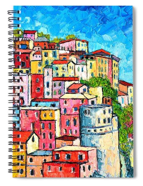 Cinque Terre Italy Manarola Colorful Houses  Spiral Notebook