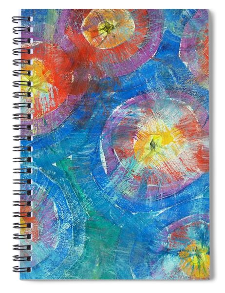 Circle Burst Spiral Notebook