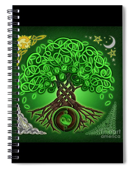 Circle Celtic Tree Of Life Spiral Notebook