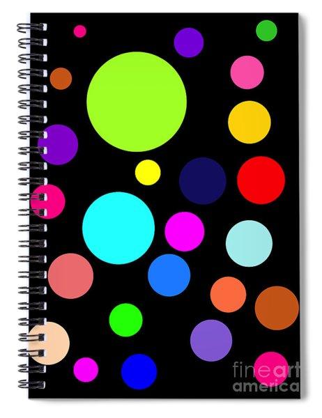 Circles On Black Spiral Notebook