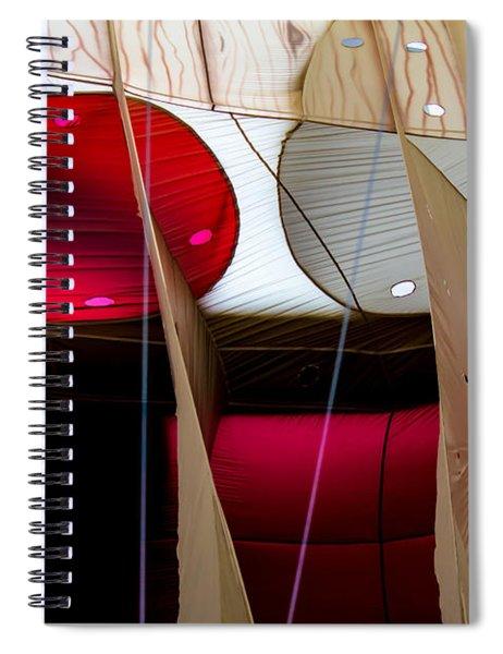 Circles Within Circles - Inside A Hot Air Balloon Spiral Notebook