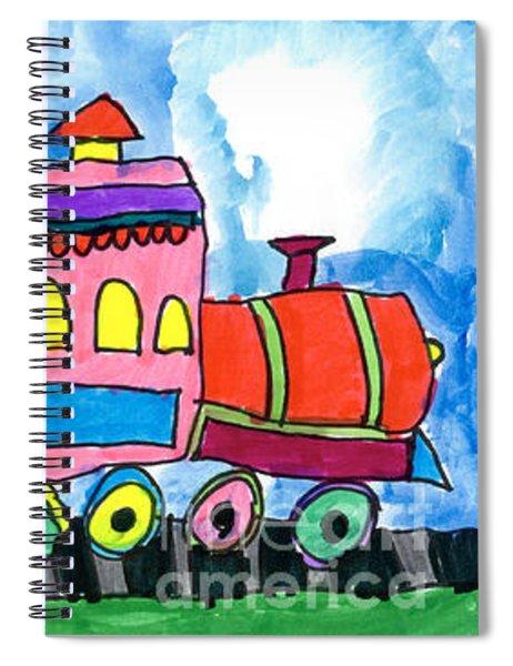Circus Train Spiral Notebook