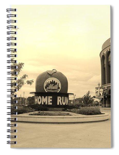 Citi Field In Sepia Spiral Notebook