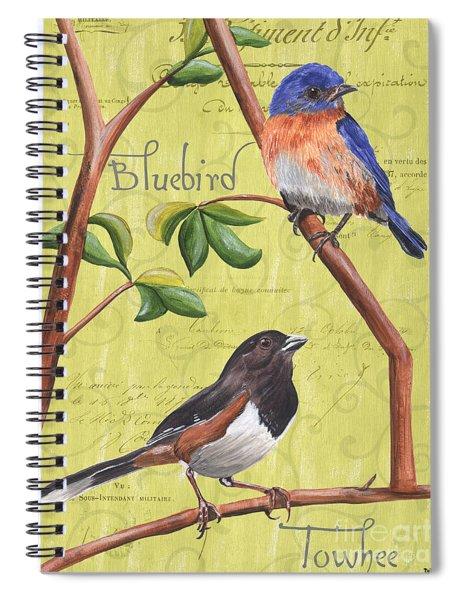 Citron Songbirds 1 Spiral Notebook