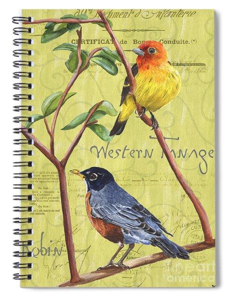 Citron Songbirds 2 Spiral Notebook