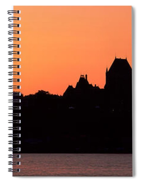 City At Sunset, Chateau Frontenac Spiral Notebook