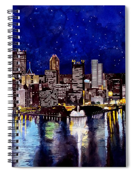 City Of Pittsburgh At The Point Spiral Notebook