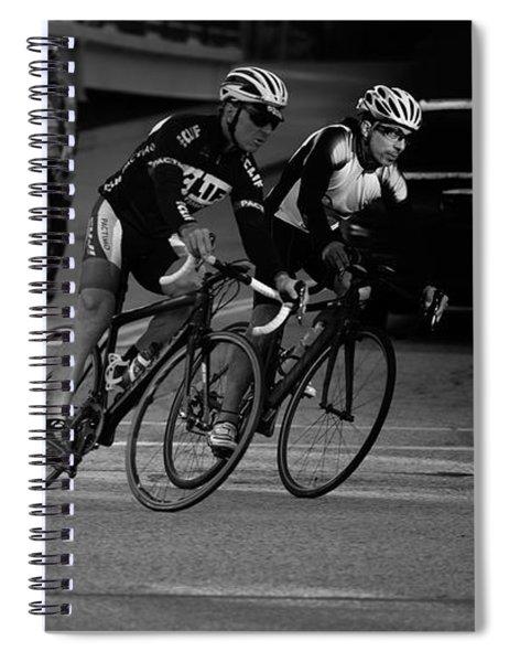 City Street Cycling Spiral Notebook