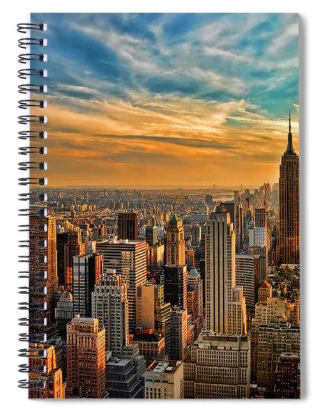 City Sunset New York City Usa Spiral Notebook