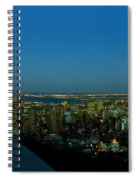 City Viewed From An Observation Point Spiral Notebook