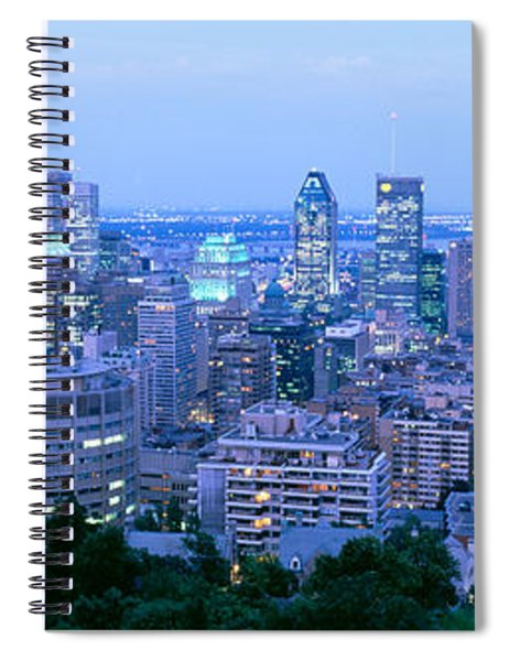 Cityscape At Dusk, Montreal, Quebec Spiral Notebook