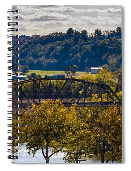 Clarksville Railroad Bridge Spiral Notebook