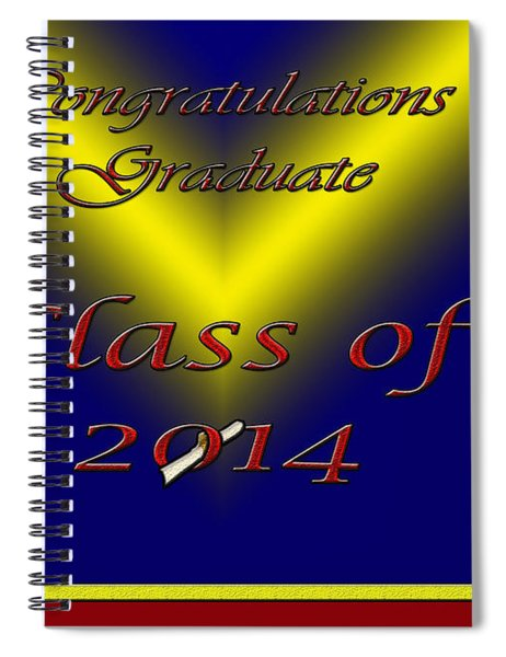 Class Of 2014 Card Spiral Notebook