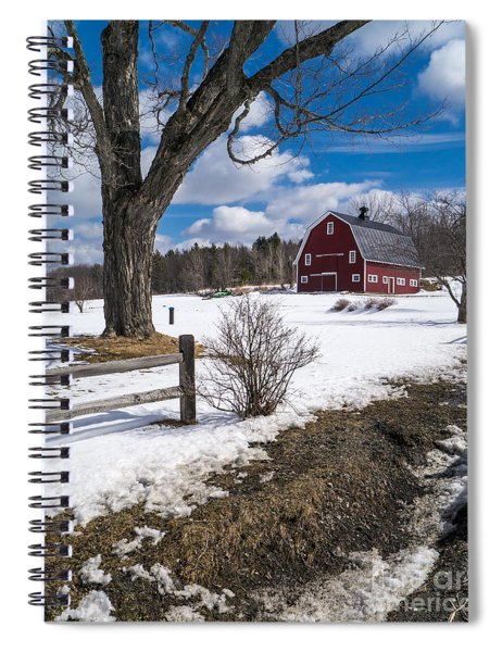 Spiral Notebook featuring the photograph Classic New England Farm Scene by Edward Fielding