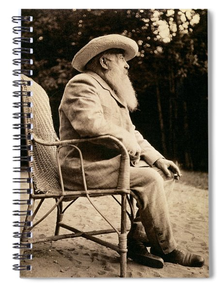 Claude Monet 1840-1926 Bw Photo Spiral Notebook