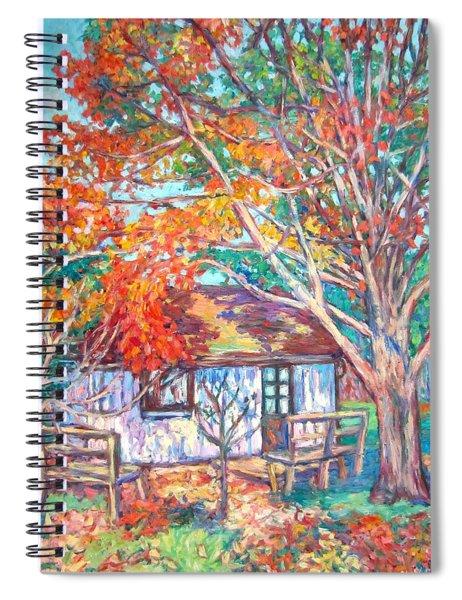 Claytor Lake Cabin In Fall Spiral Notebook