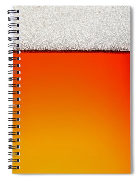 Clean Beer Background Spiral Notebook by Johan Swanepoel