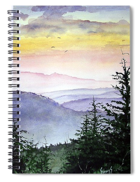 Clear Mountain Morning II Spiral Notebook