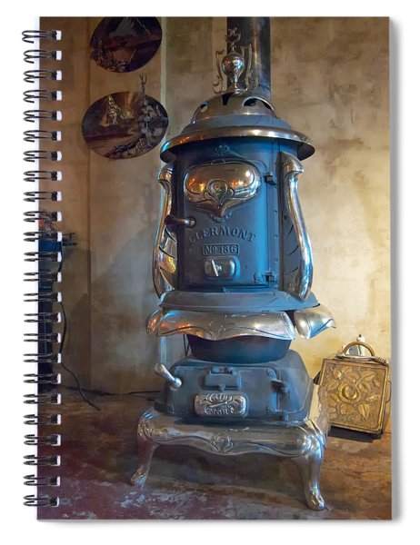 Clermont No 136 Pot Belly Stove Spiral Notebook