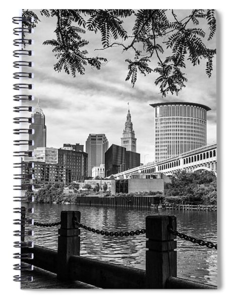 Cleveland River Cityscape Spiral Notebook