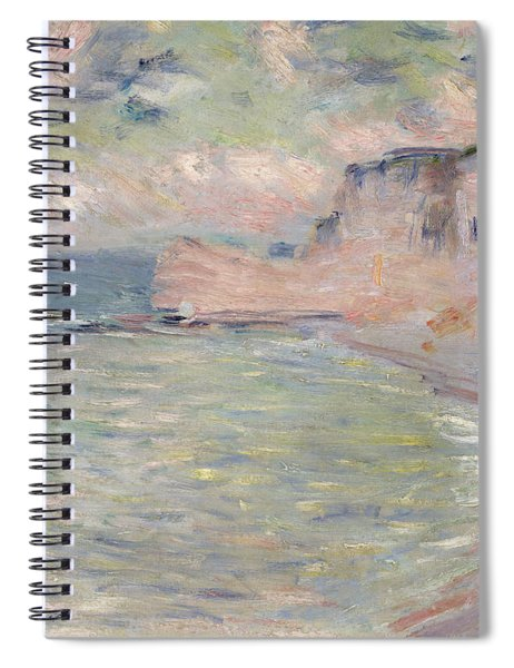 Cliffs And The Porte Damont, Morning Effect, 1885 Oil On Canvas Spiral Notebook