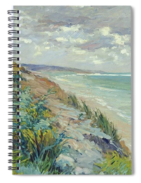 Cliffs By The Sea At Trouville  Spiral Notebook
