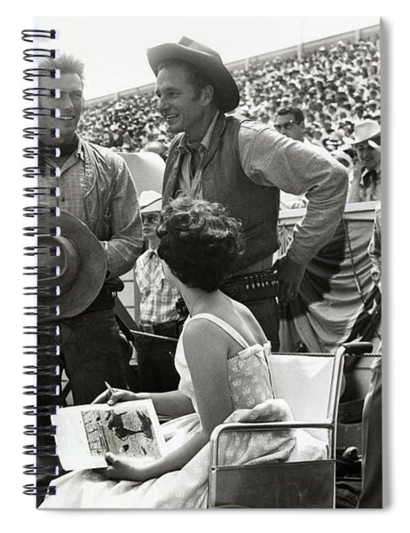 Clint Eastwood  Eric Fleming Characters Rowdy Yates Salinas California 1962 Spiral Notebook